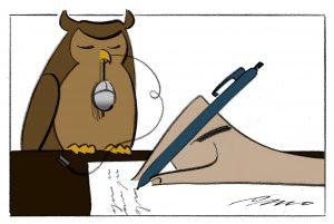 Undertekst/kreditering: Tegning: Per Marquard Otzen Bestilt af Michael Olsen/Tina Planeta Skrevet af Pernille Mainz